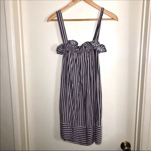 UO Cooperative vertical stripe ruffle dress sz XS